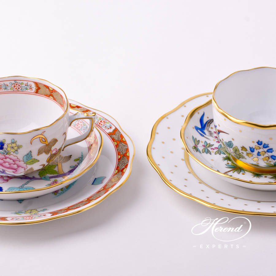 Mini Tea Set - Shanghai SH and Oriental Showmen FODO decors. Herend porcelain tableware. Hand painted
