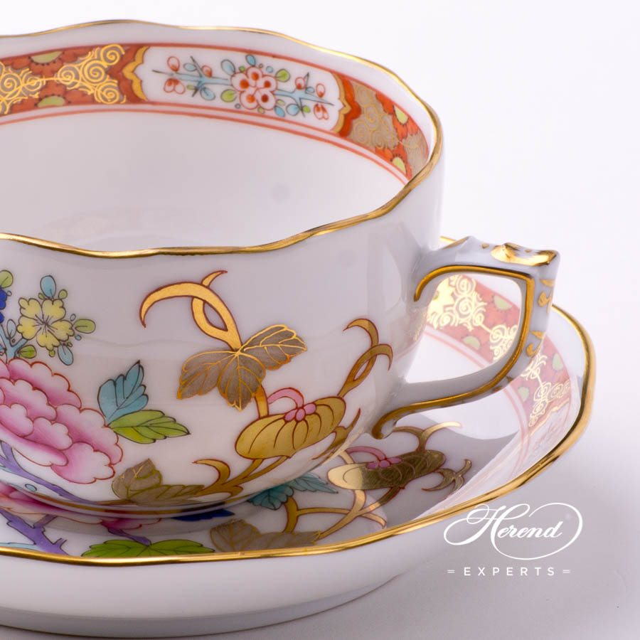 Tea Cup with Saucer 20724-0-00 SH Shanghai decor. Herend porcelain tableware. Hand painted