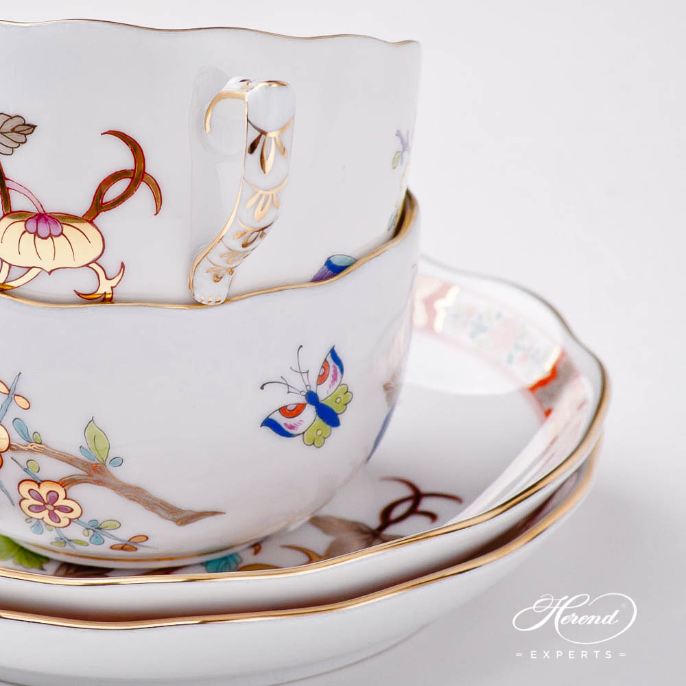 Teacupw. Saucer20724-0-00SH Shanghai design. Herend fine china tableware. Hand painted. Oriental style