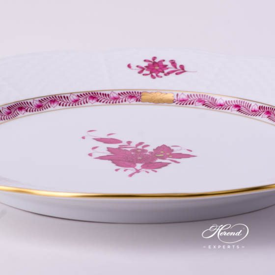 Service Plate / Dinner Plate 527-0-00 AP Chinese Bouquet Raspberry / Apponyi Purple - AP decor. Herend porcelain tableware. Hand painted