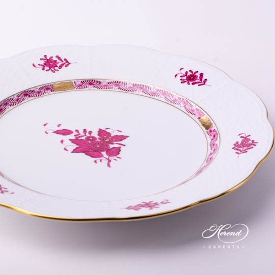Service Plate / Dinner Plate527-0-00 AP Chinese Bouquet Raspberry / Apponyi Purple - AP decor. Herend porcelain tableware. Hand painted