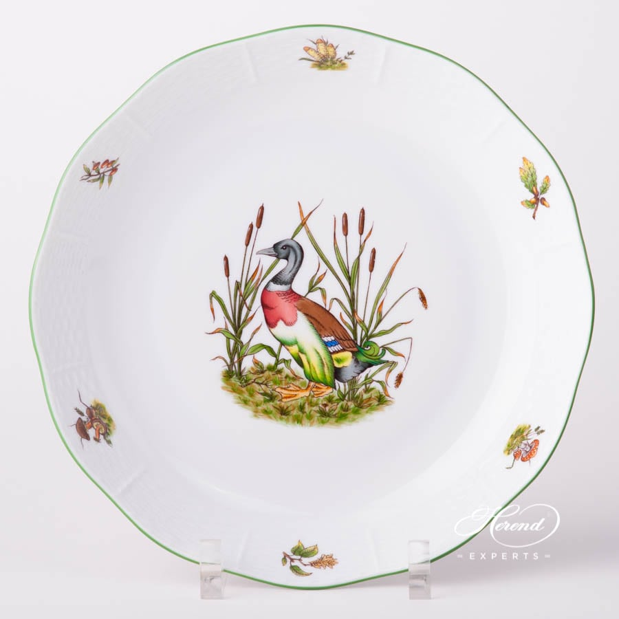 Vegetable Dish / Round Bowl 149-0-00 CHTM Hunter Trophies design. Herend fine china tableware. Wild Duck motif. Hand painted
