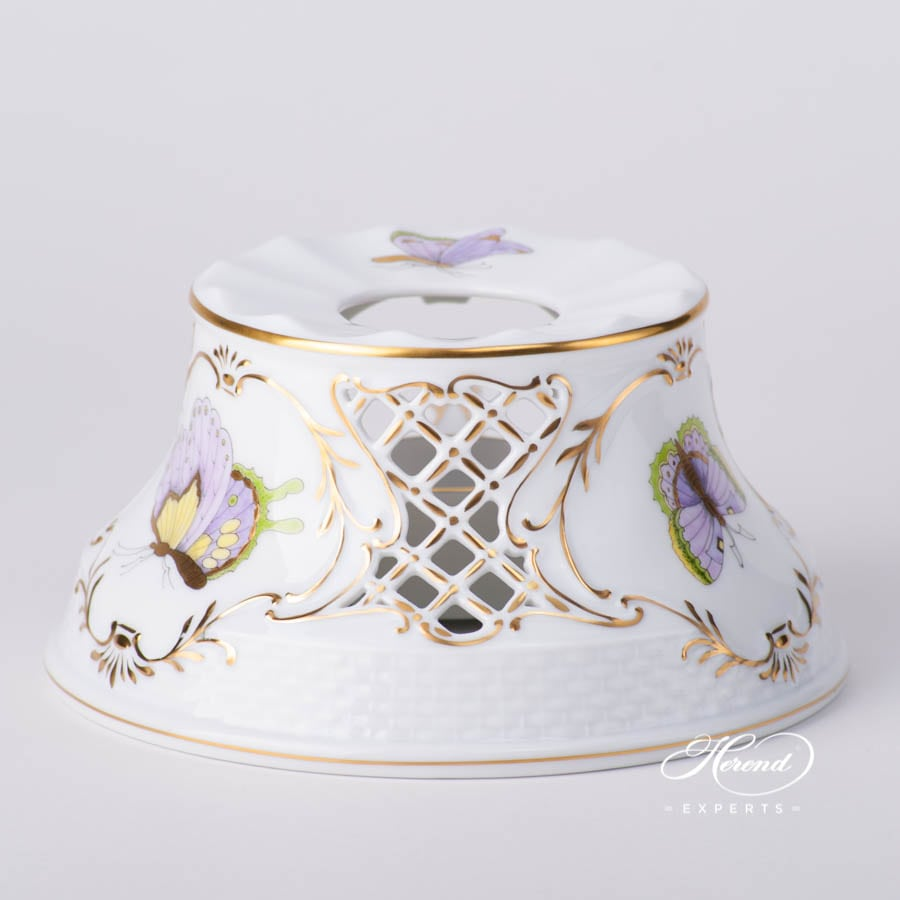 Tea Stove 455-0-00 EVICTP1 Royal Garden Green Butterfly  design. Herend porcelain tableware. Hand painted