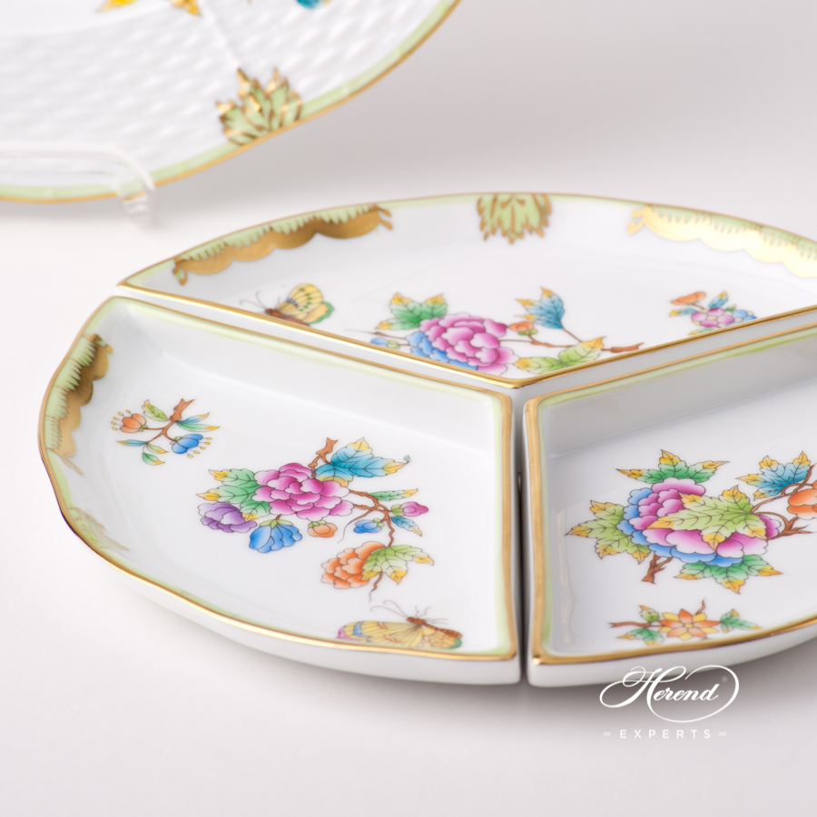 Starter Dish / Hors D'oeuvre Dish 441-0-00 VBO Queen Victoria pattern. Herend fine china hand painted. Tableware