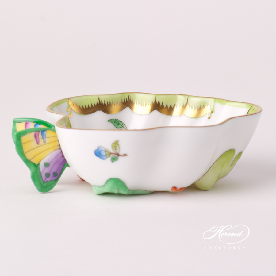 Sugar Basin / Candy Jar with Butterfly Knob 2492-0-00 VBA Queen Victoria design. Herend fine china tableware. Hand painted