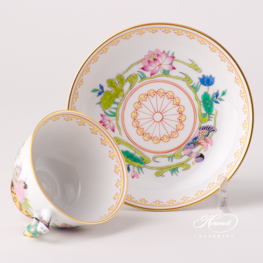 Tea /Coffee / Espresso Cup with Saucer 3371-0-21 IC Immortal Easterndesign. Herend fine china tableware. Hand painted