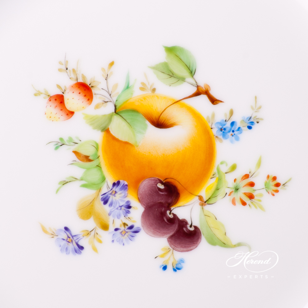 Dessert Plate 517-0-00 CFR Fruits design. Herend fine china tableware. Hand painted