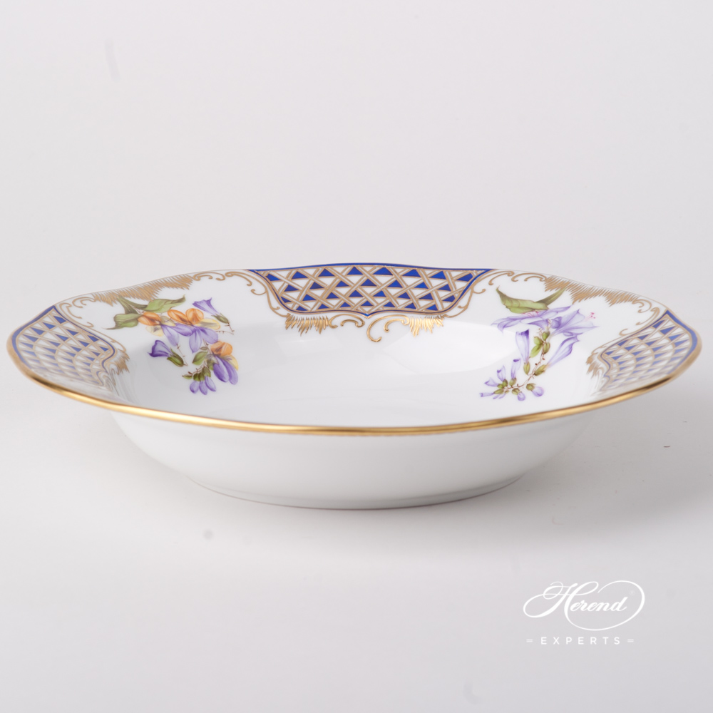 Soup Plate 20501-0-00 MTFC Mosaic and Flowers design. Herend fine china tableware. Hand painted