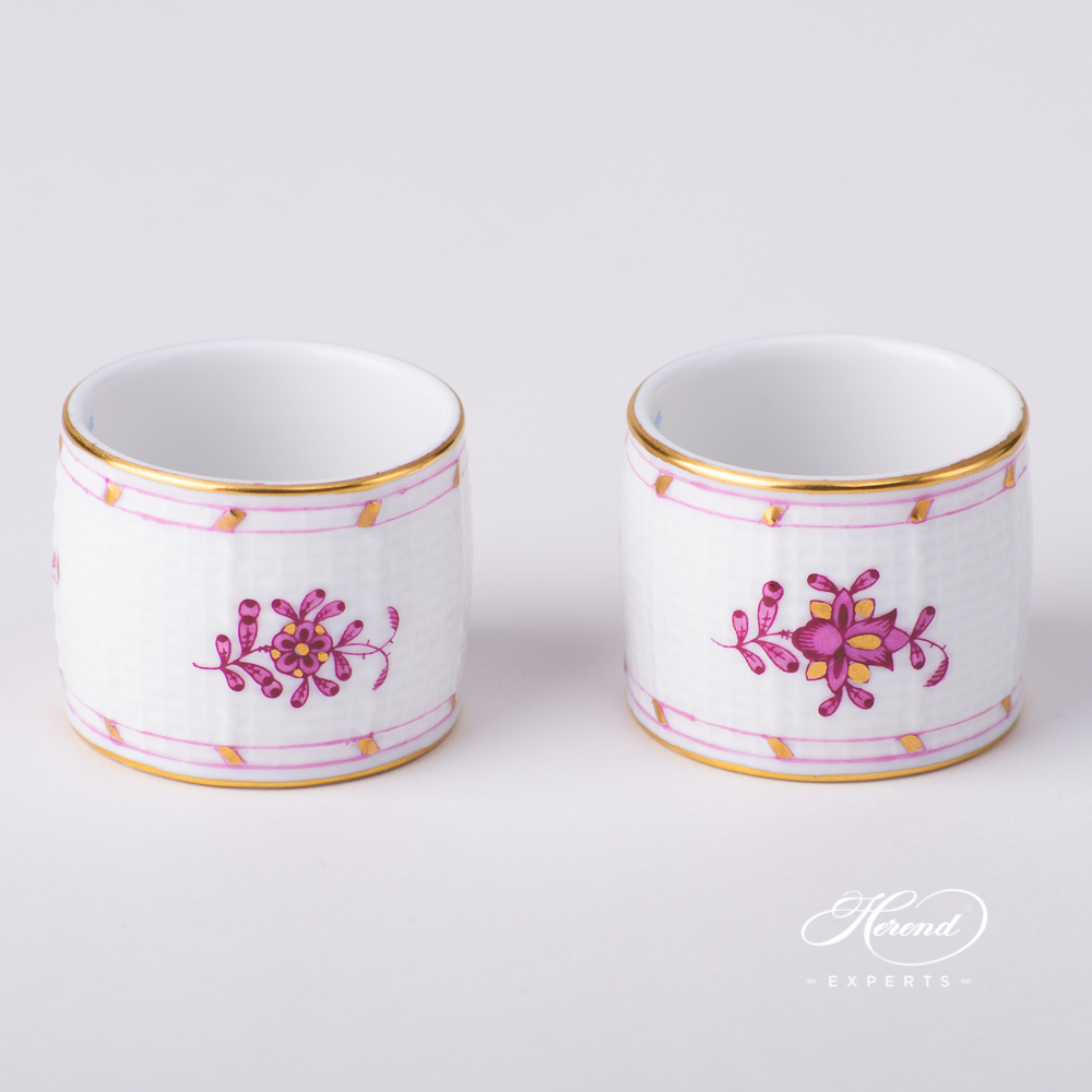 Napkin Ring272-0-00 FP Indian Basket Purple design. Herend fine china tableware. Hand painted