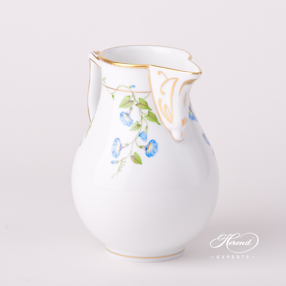 Milk Jug / Creamer 20654-0-00 NY Nyon / Morning Glory design. Herend fine china tableware. Hand painted