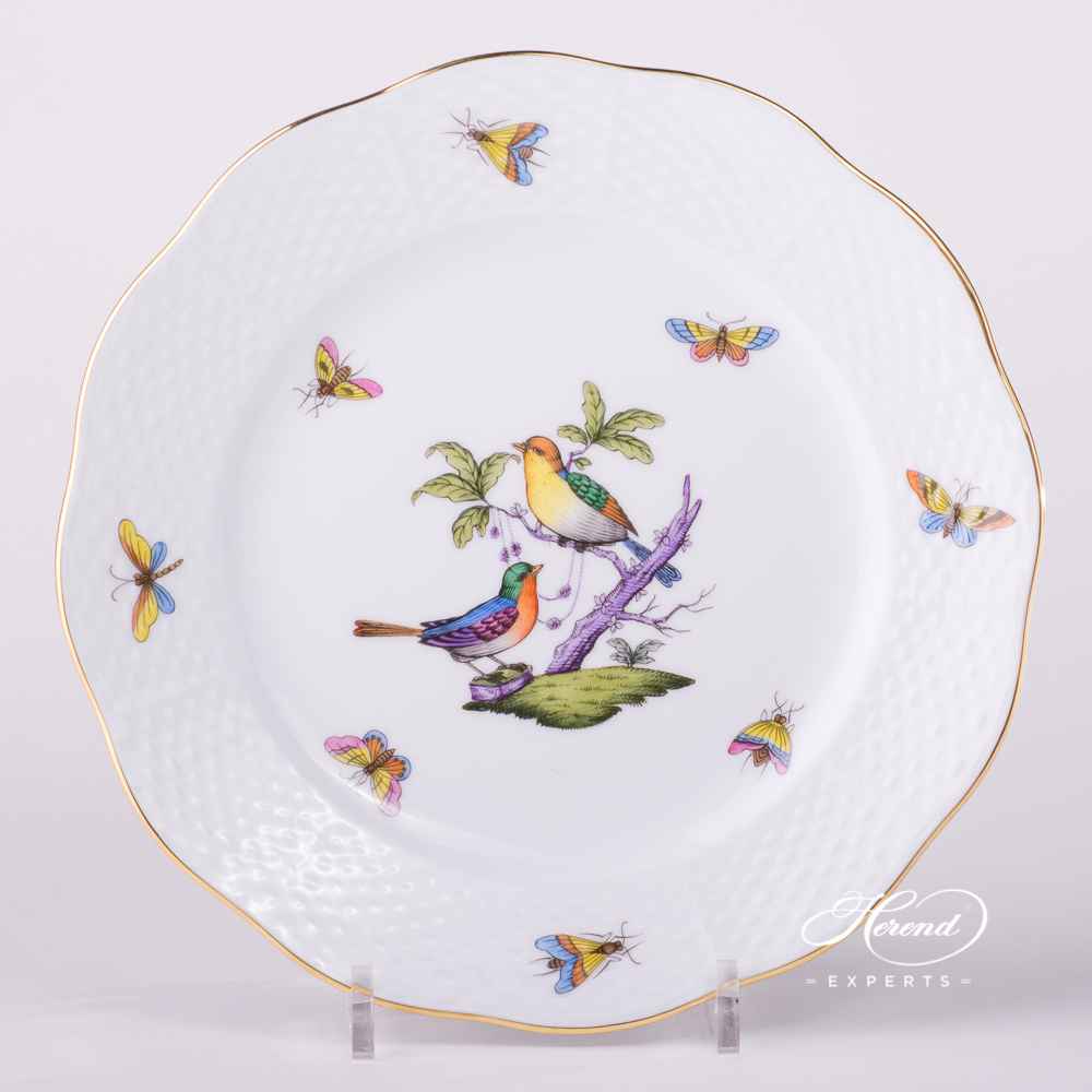 Dessert Plate 519-0-00 ROM Rothschild Bird Mayer design. Herend fine china tableware. Hand painted