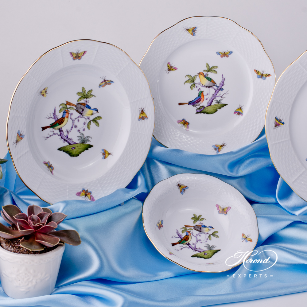Salad / Fruit Bowl 330-0-00 ROM Rothschild Bird Mayer design. Herend fine china tableware. Hand painted
