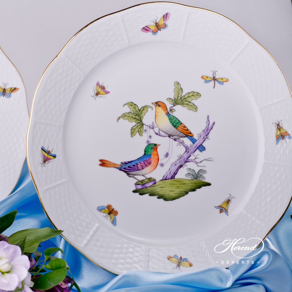 Place Setting 4 Pieces- HerendRothschild Bird Mayer - ROM design. Herend fine china tableware. Hand painted. Classical Herend design