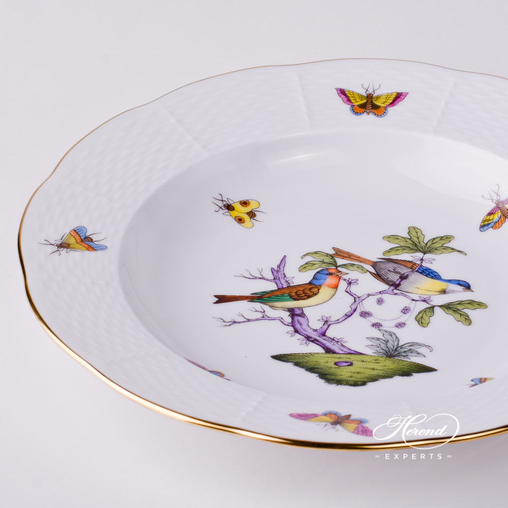 Soup Plate 504-0-00 ROM Rothschild Bird Mayer design. Herend fine china tableware. Hand painted