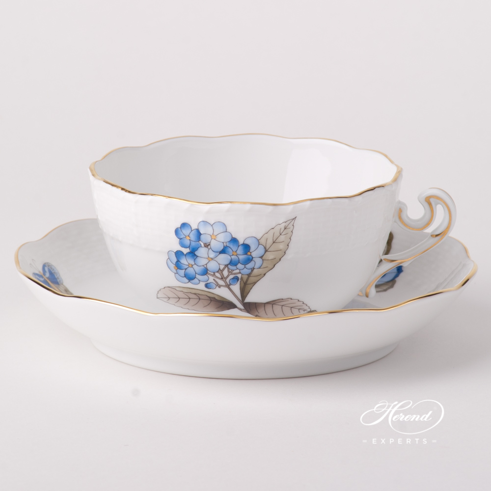 Tea Cup w. Saucer 702-0-00 VICTMC9 Victoria Grand Blue pattern. Herend fine china