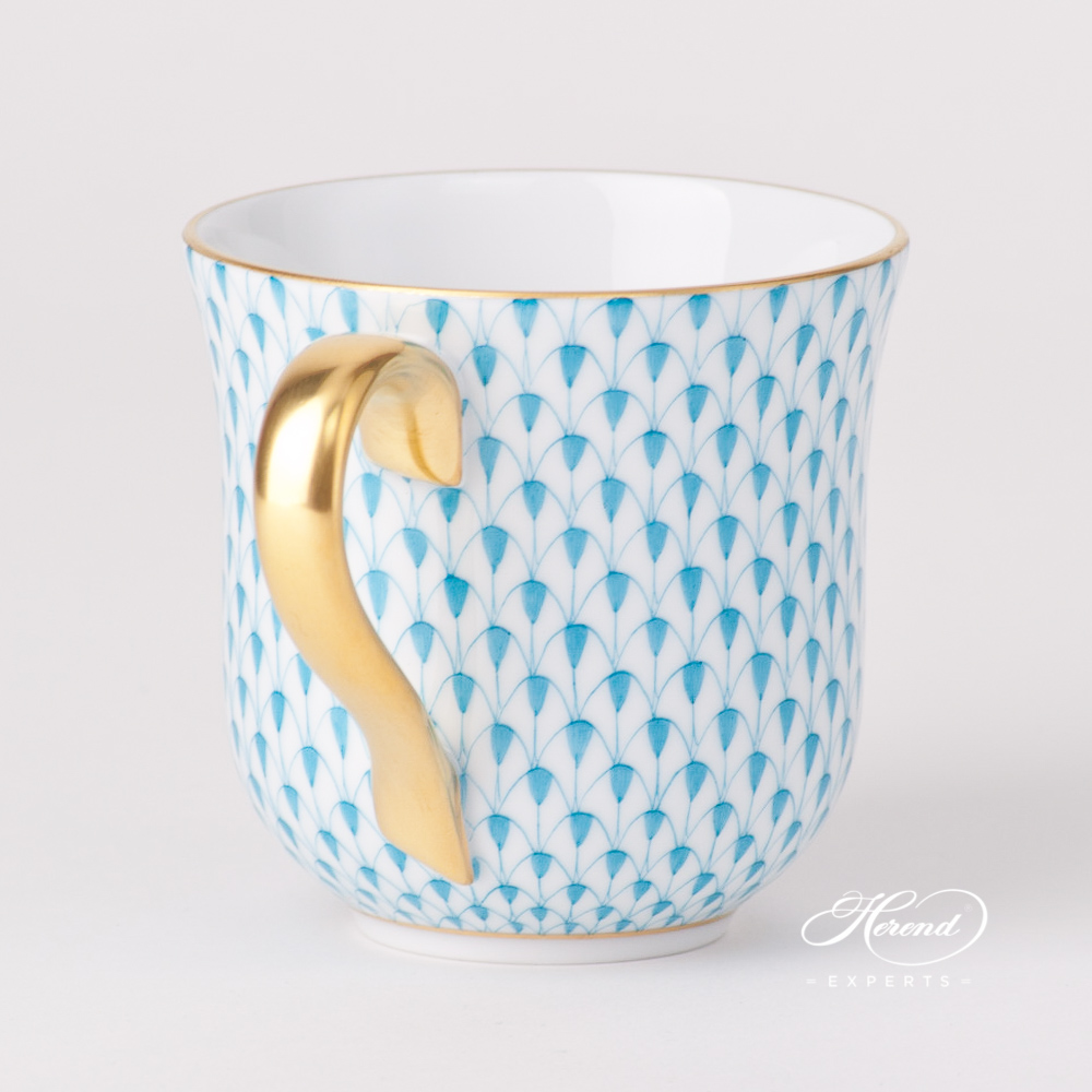 Universal Cup / Breakfast Cup 2729-0-00 VHTQ Turquoise Fish Scale design. Herend fine china tableware