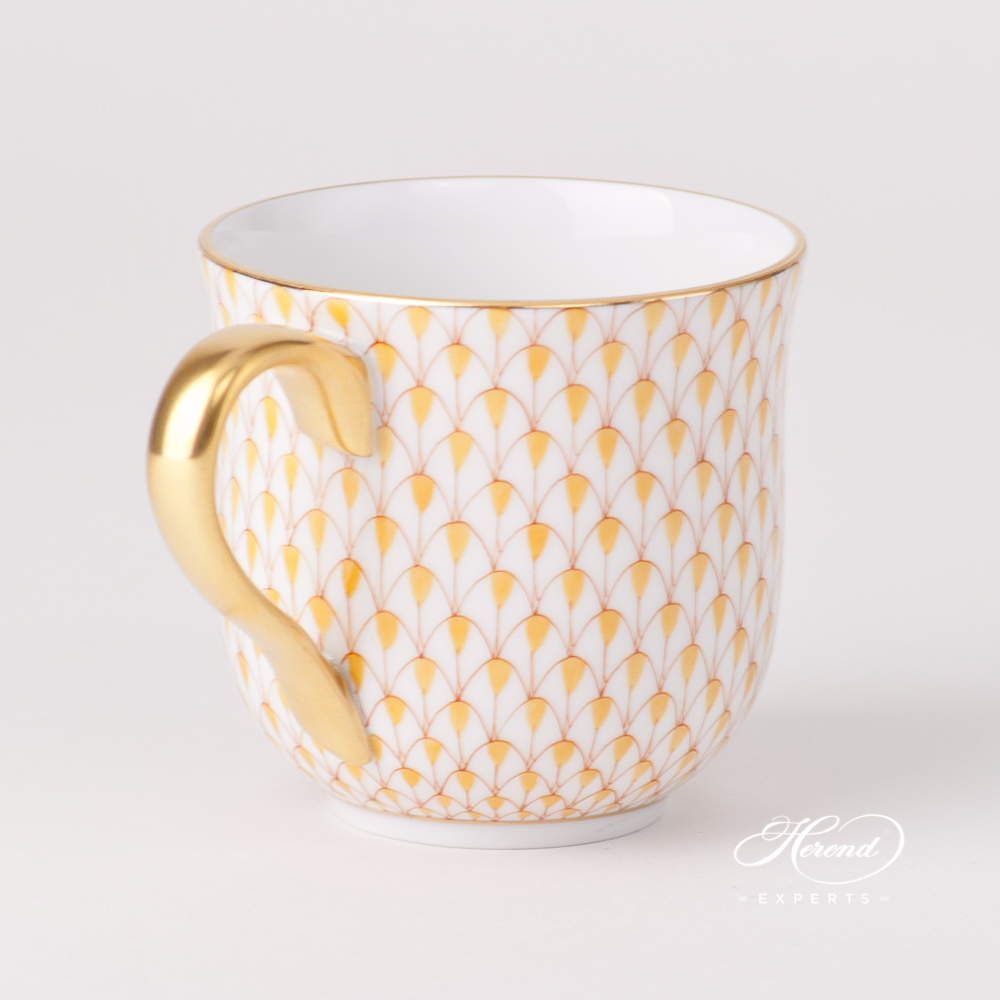 Universal Cup/ Breakfast Cup2729-0-00 VHJ YellowFish Scale design. Herend fine china tableware