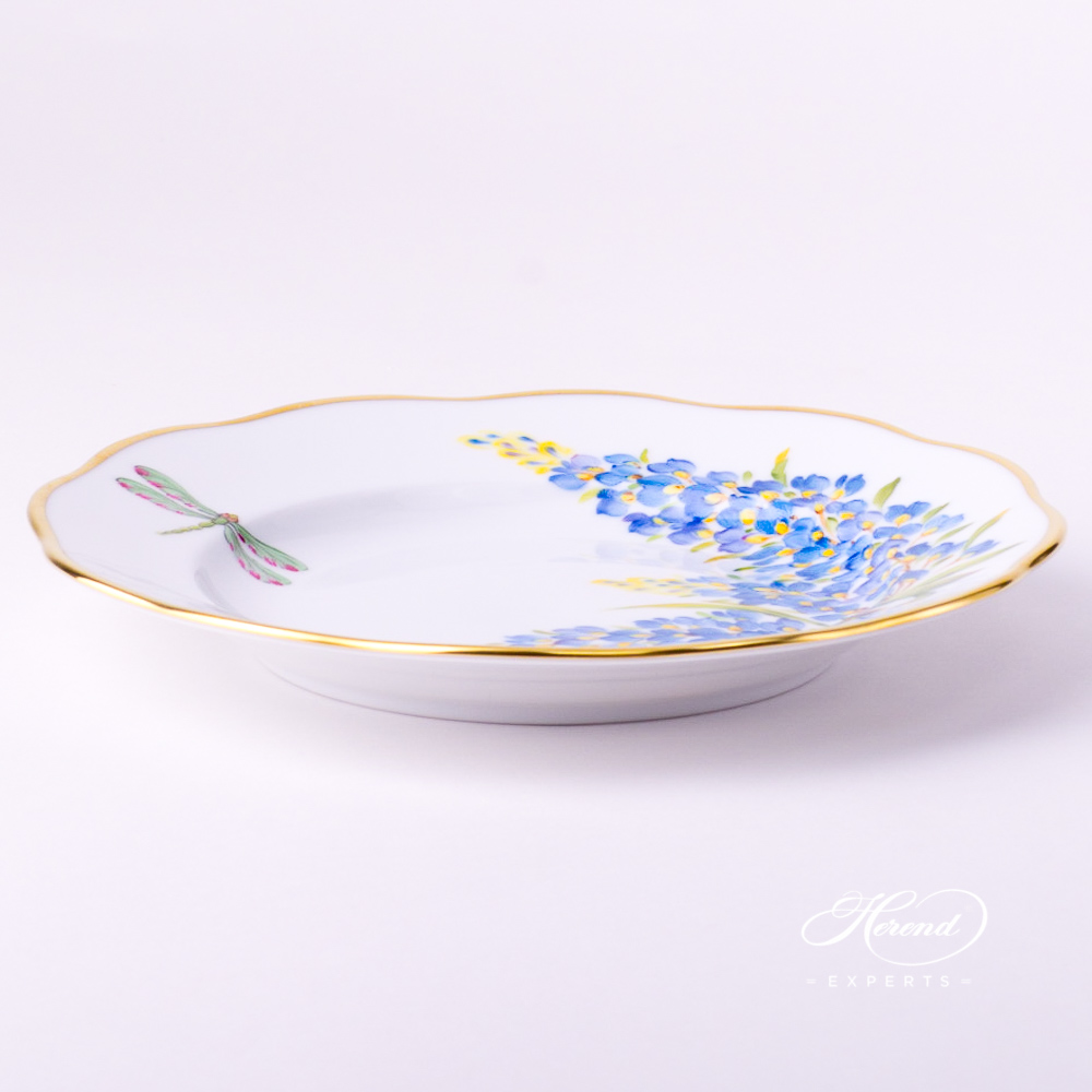 Dessert Plate 20518-0-00 FLA-BB American Wildflowers / Texas Bluebonnet pattern. Herend fine china