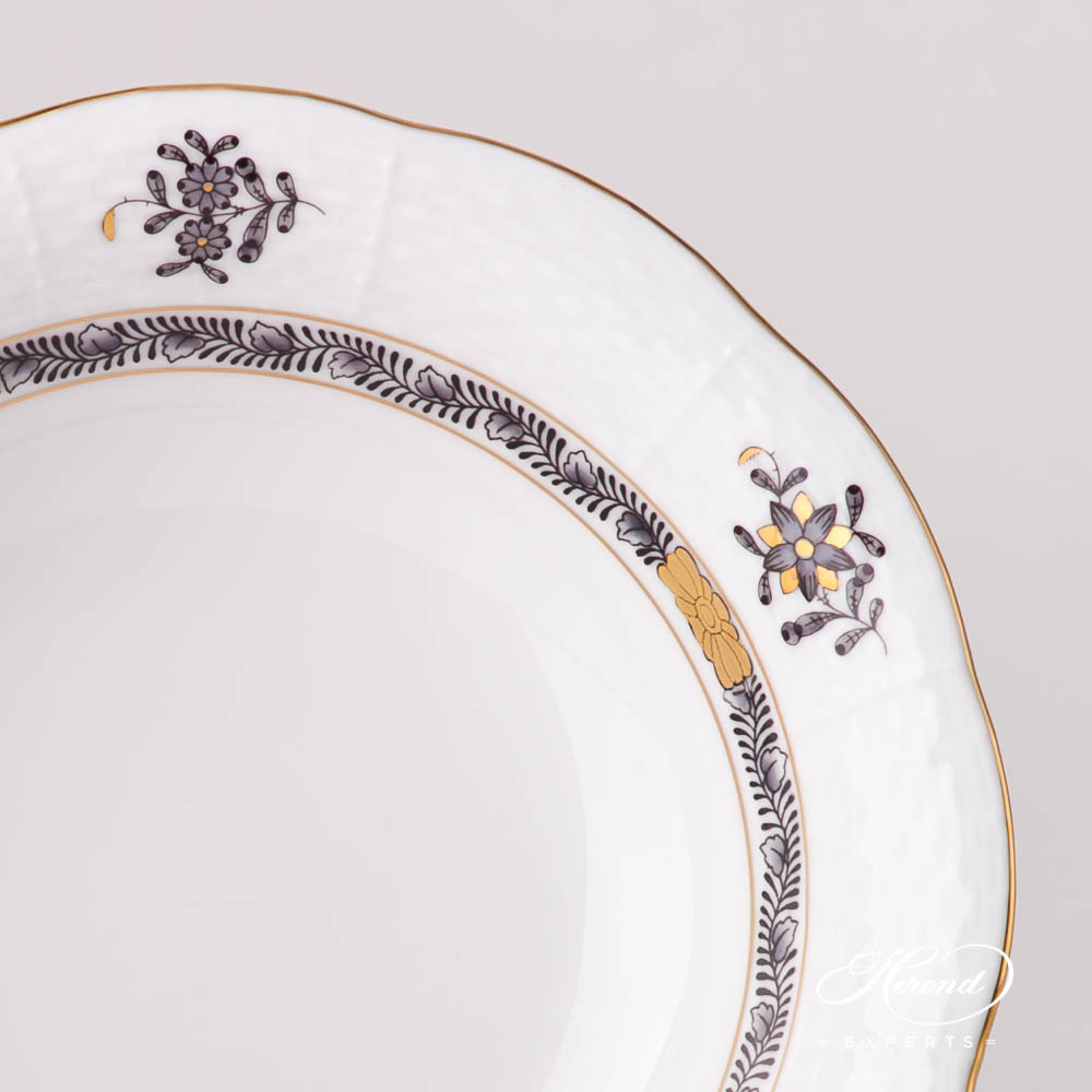 Bowl 330-0-00 ASNG-CH Chinese Bouquet / Apponyi Black design. Herend fine china