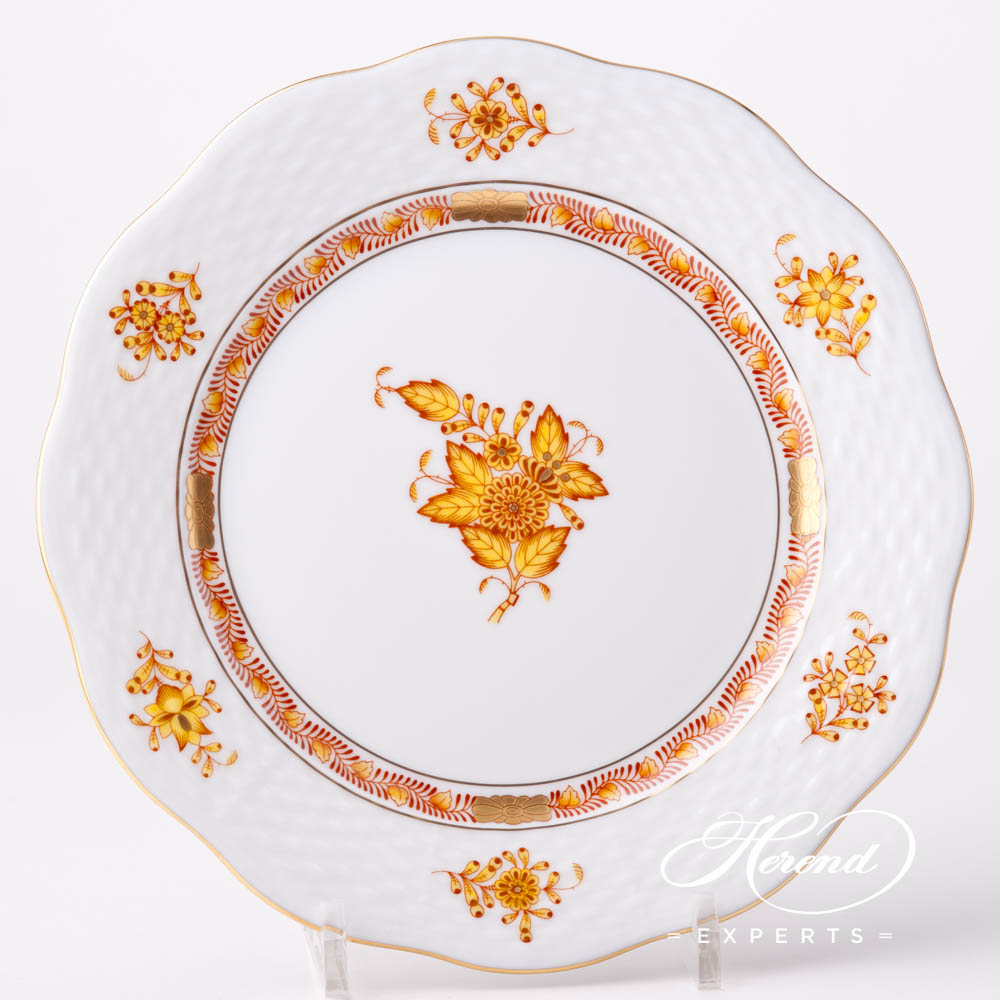 Dessert Plate 517-0-00 AJ Chinese Bouquet / Apponyi Yellow design. Herend fine china hand painted. Classical style tableware