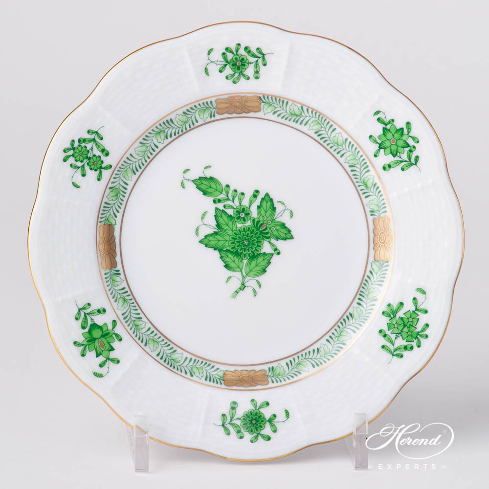 Bread and Butter Plate 513-0-00 AV Chinese Bouquet / Apponyi Green design. Herend fine china