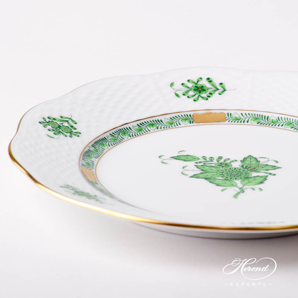 Dessert Plate 519-0-00 AV Chinese Bouquet / Apponyi Green design. Herend fine china