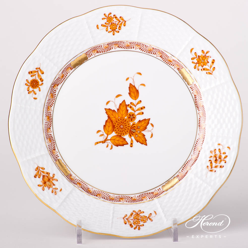 Large Dessert Plate 521-0-00 AM Chinese Bouquet / Apponyi Browndesign. Herend fine china