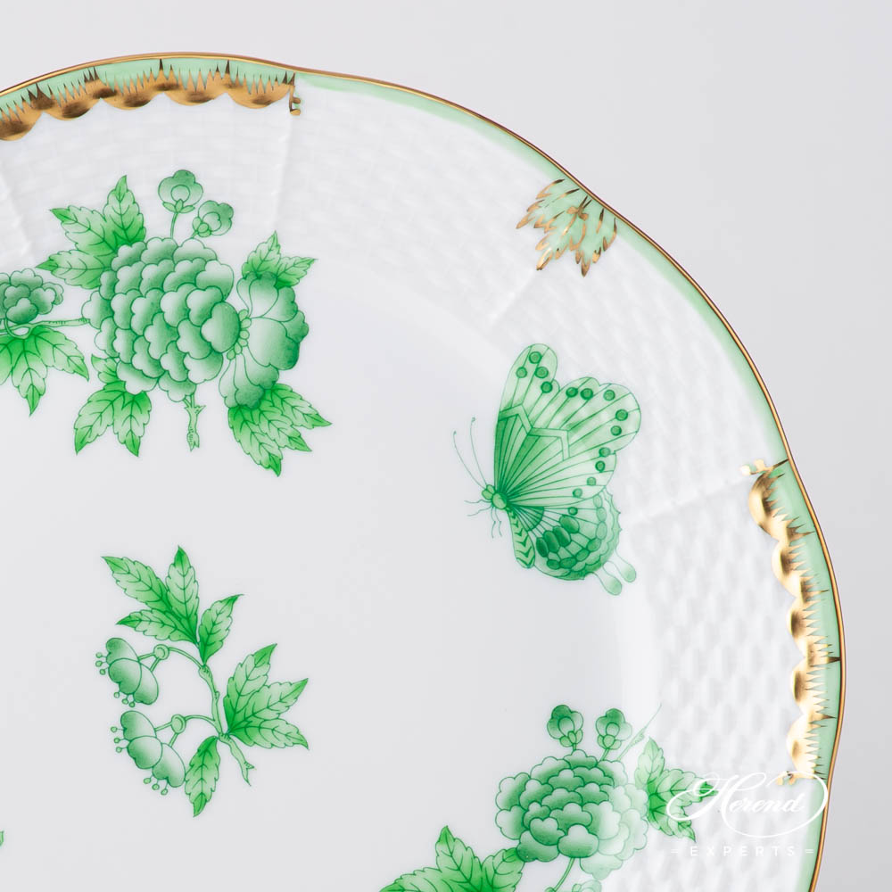 Dessert Plate 521-0-00 VBOV Queen Victoria Green design. Herend fine china tableware. Hand painted tableware