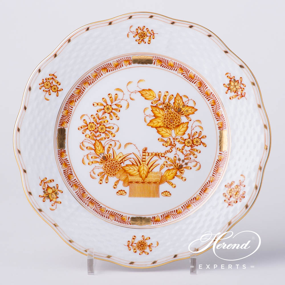 Dessert Plate517-0-00 FJ Indian Basket Yellow pattern. Herend fine china hand painted. Classical style tableware