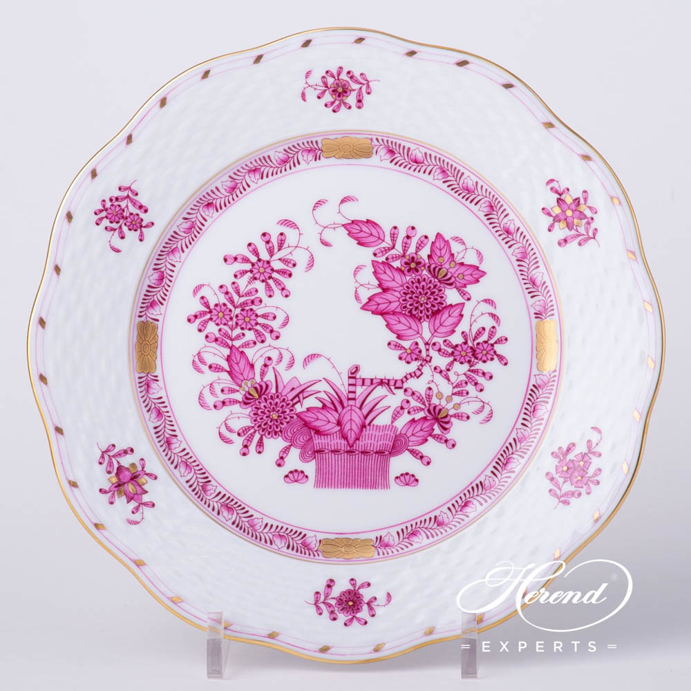 Dessert Plate517-0-00 FP Indian Basket Purple pattern. Herend fine china hand painted. Classical style tableware