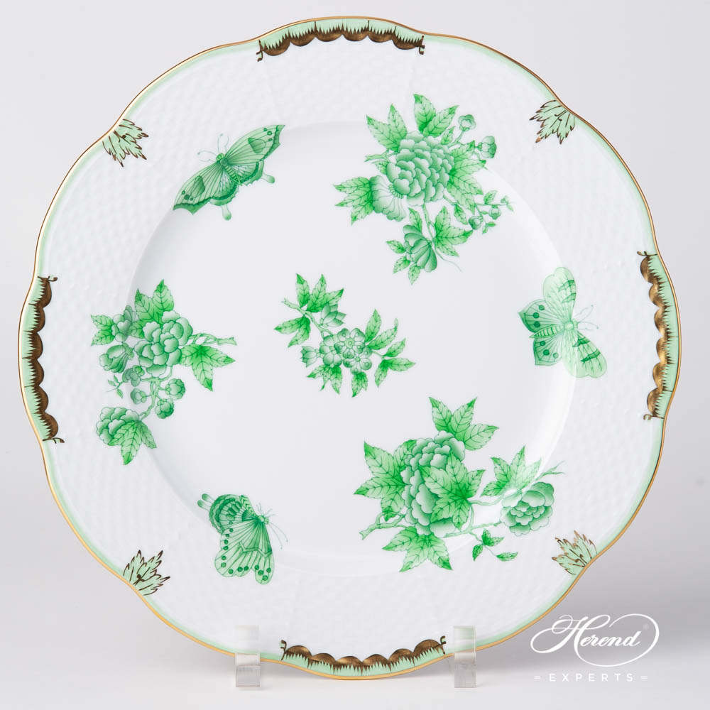 Serving Plate / Dinner Plate527-0-00 VBOV Queen Victoria Green design. Herend fine china tableware. Hand painted