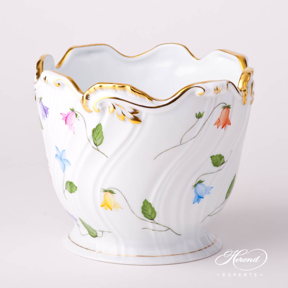 Flower Pot /Vase7227-0-00 CMUC Bluebell / Campanula Multicolored pattern. Herend fine china hand painted. Modern style tableware