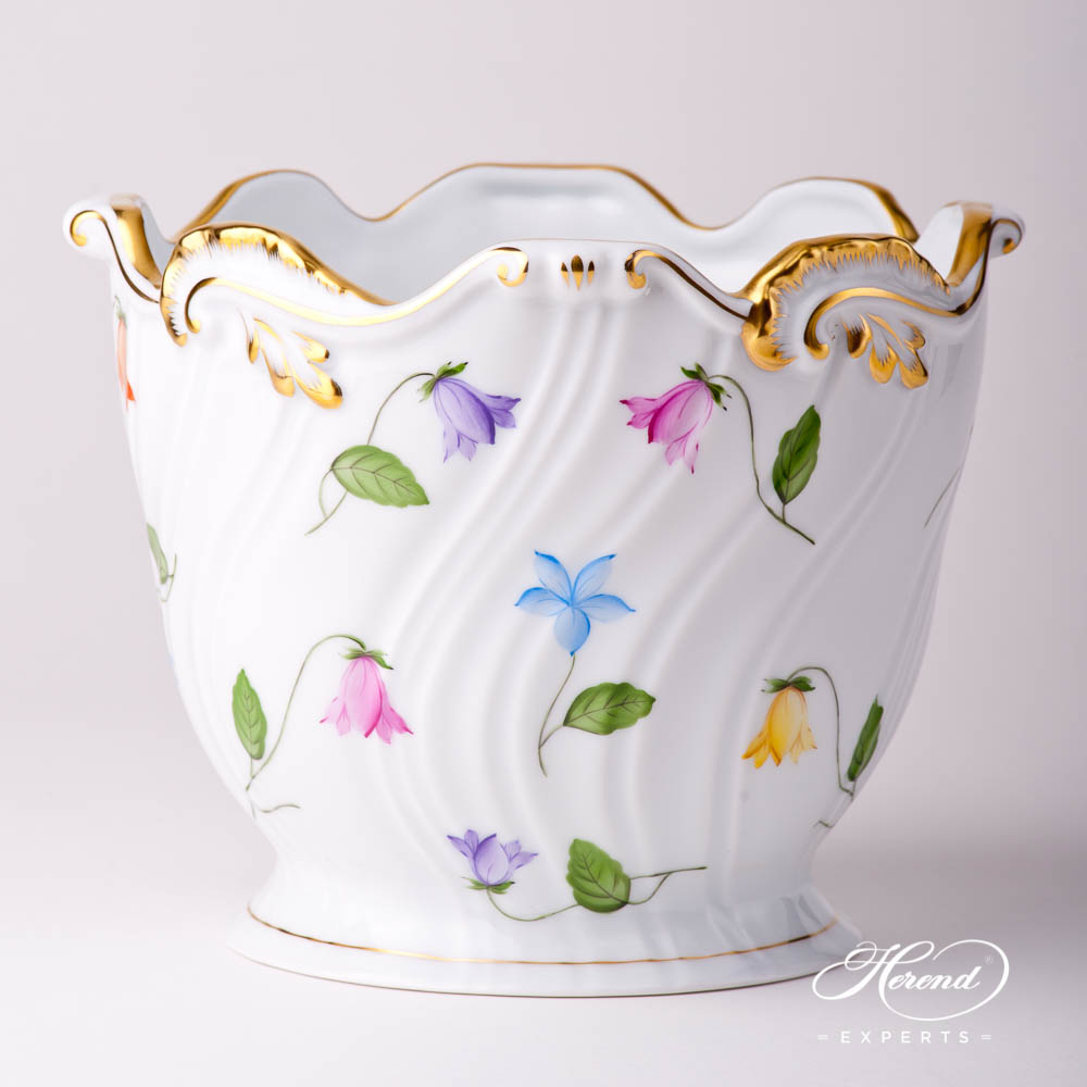 Flower Pot / Vase 7227-0-00 CMUC Bluebell / Campanula Multicolored pattern. Herend fine china hand painted. Modern style tableware