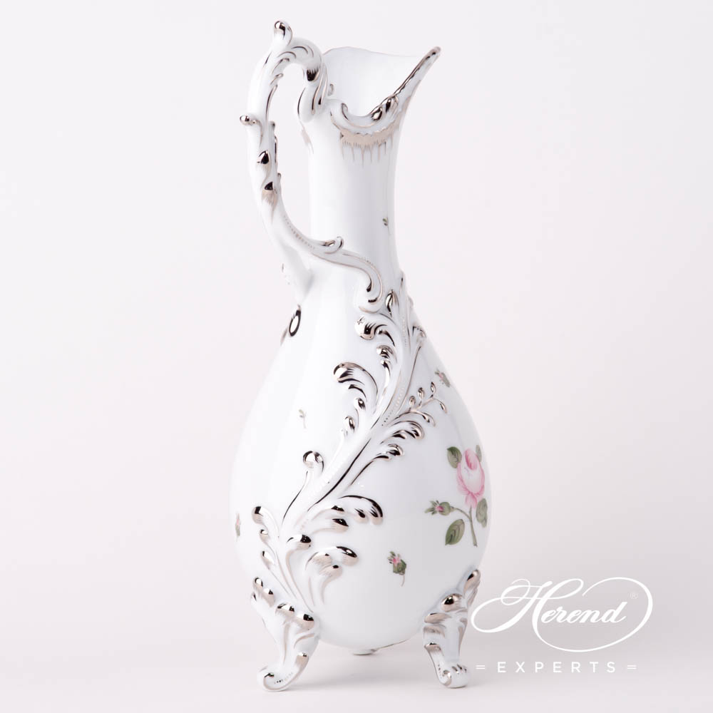 Fancy Jug 7598-0-00 VGR-PT Vienna / Viennese Rose Platinum pattern. Herend fine china hand painted. Modern version of Viennese Rose design