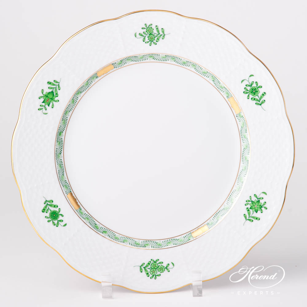 Serving / Dinner Plate527-0-00 ASV-CH Chinese Bouquet / Apponyi Greenpattern. Herend fine china