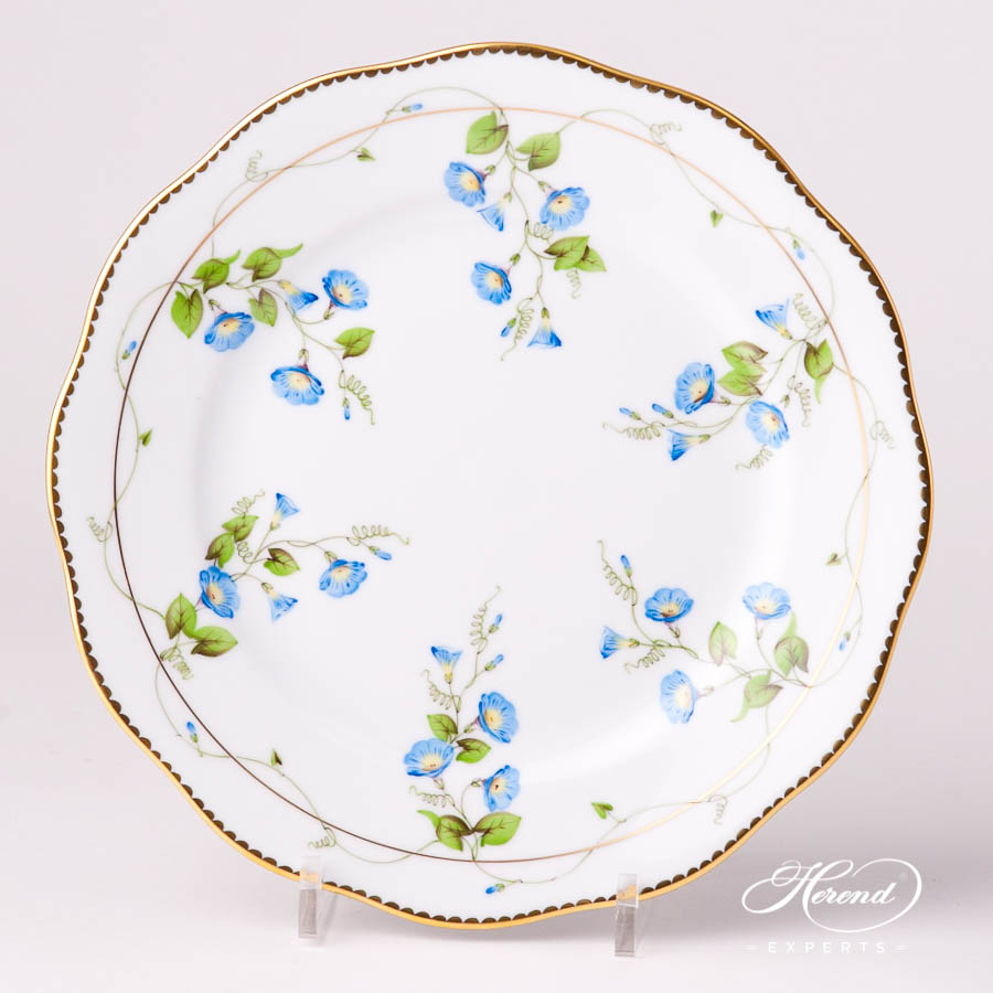 Dessert Plate 20519-0-00 NY Nyon / Morning Glory Flower pattern. Herend fine china tableware. Hand painted