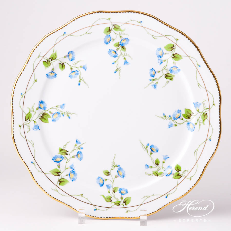 Round Dish / Serving Plate 20156-0-00 NY Nyon / Morning Glory Flower pattern. Herend fine china tableware. Hand painted