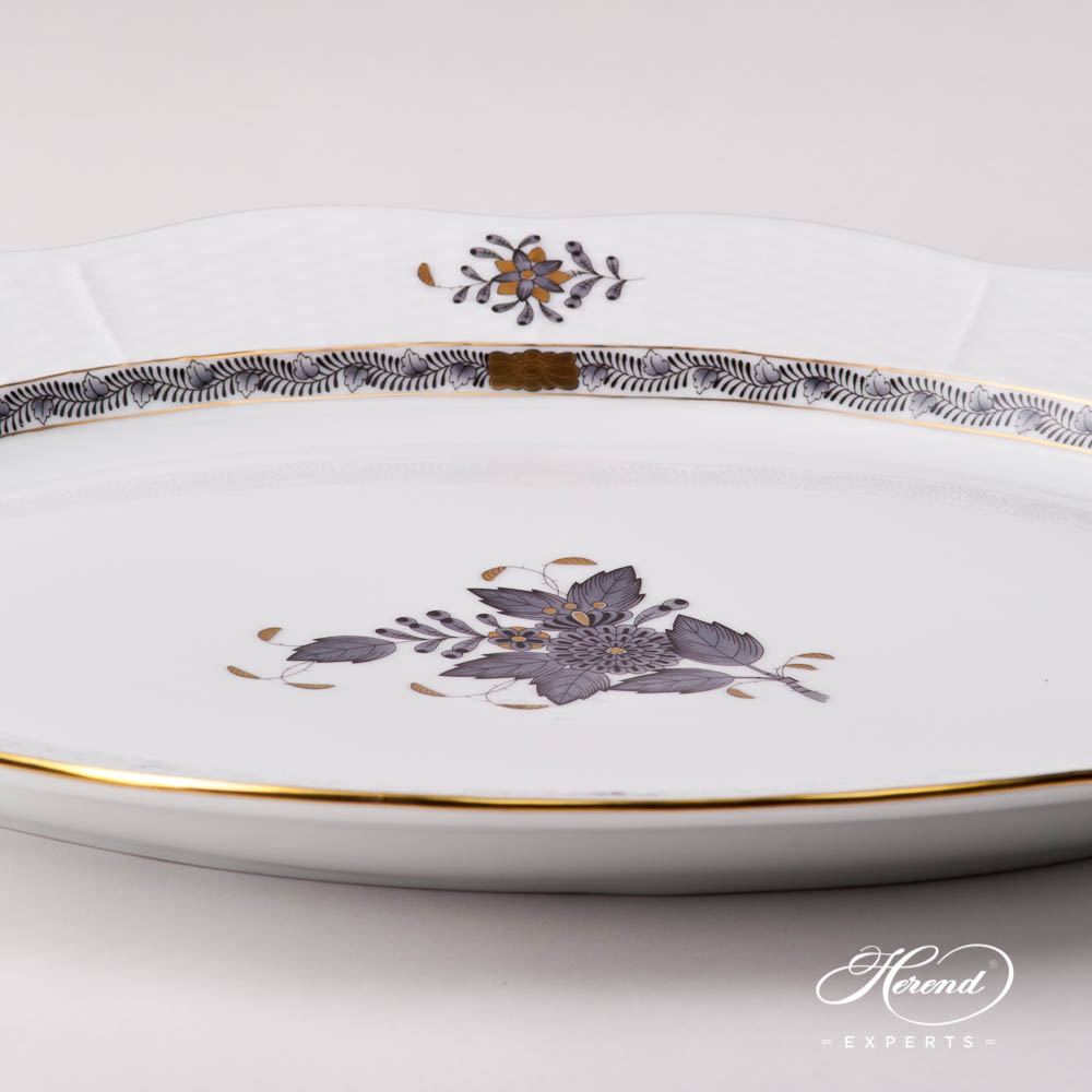 Oval Dish 101-0-00 ANG Chinese Bouquet / Apponyi Black design. Herend fine china