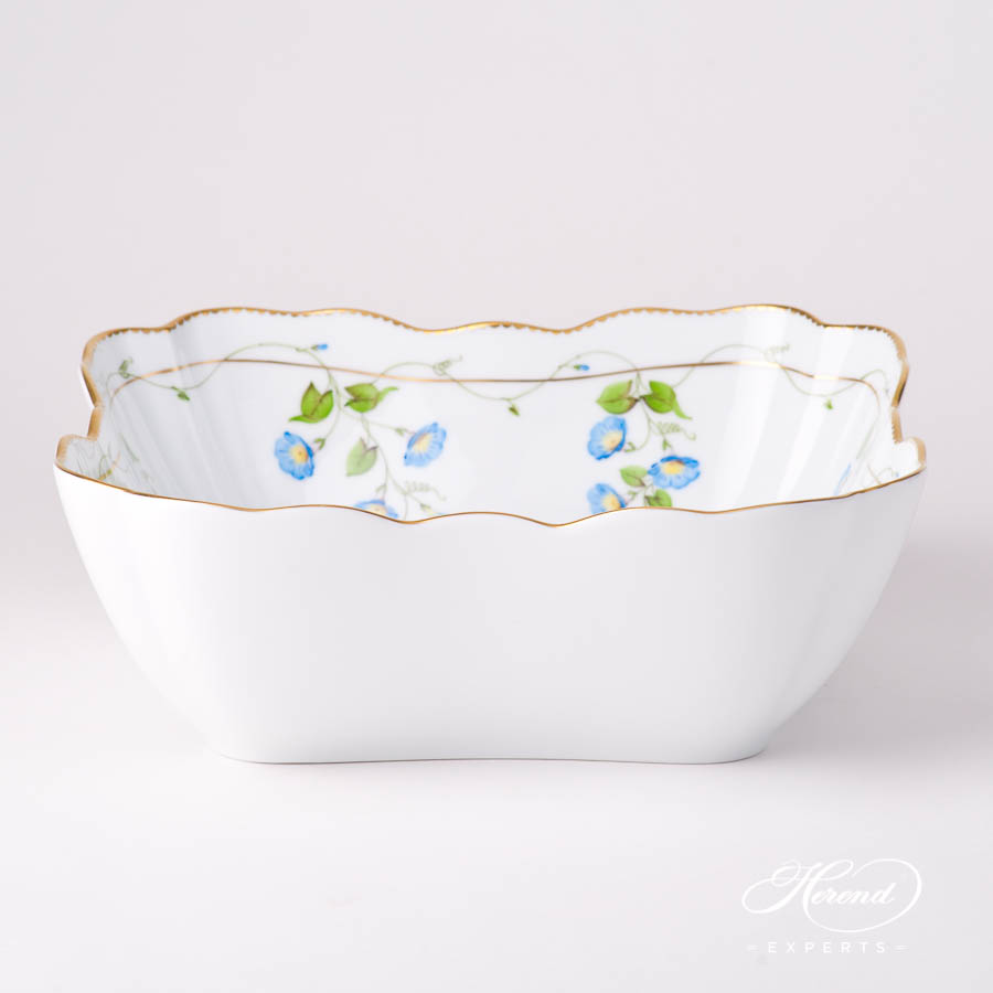 Salad Bowl 20180-0-00 NY Nyon / Morning Glory Flower pattern. Herend fine china tableware. Hand painted