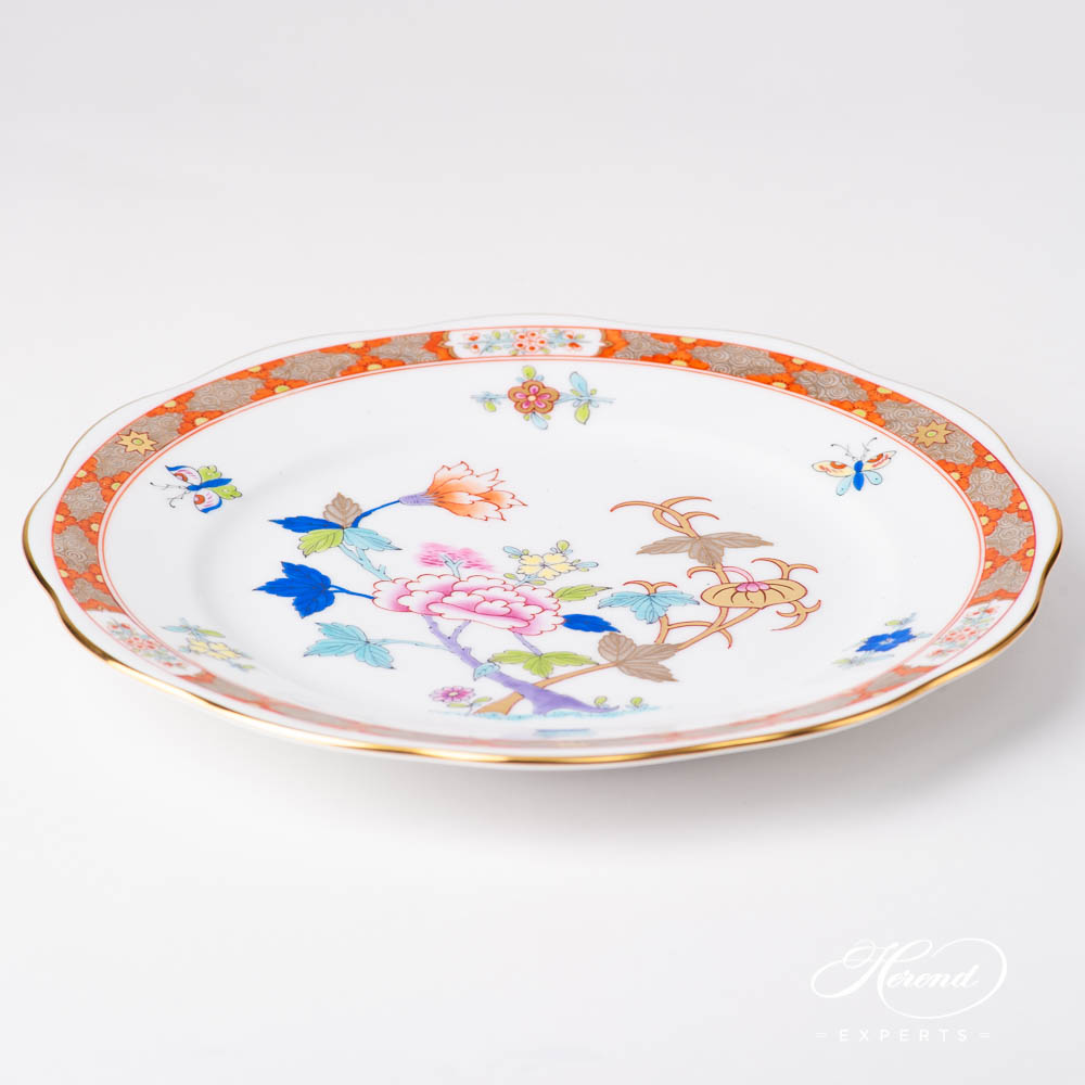 Dessert Plate 20517-0-00 SH Shanghai design. Herend fine china tableware. Hand painted. Oriental style