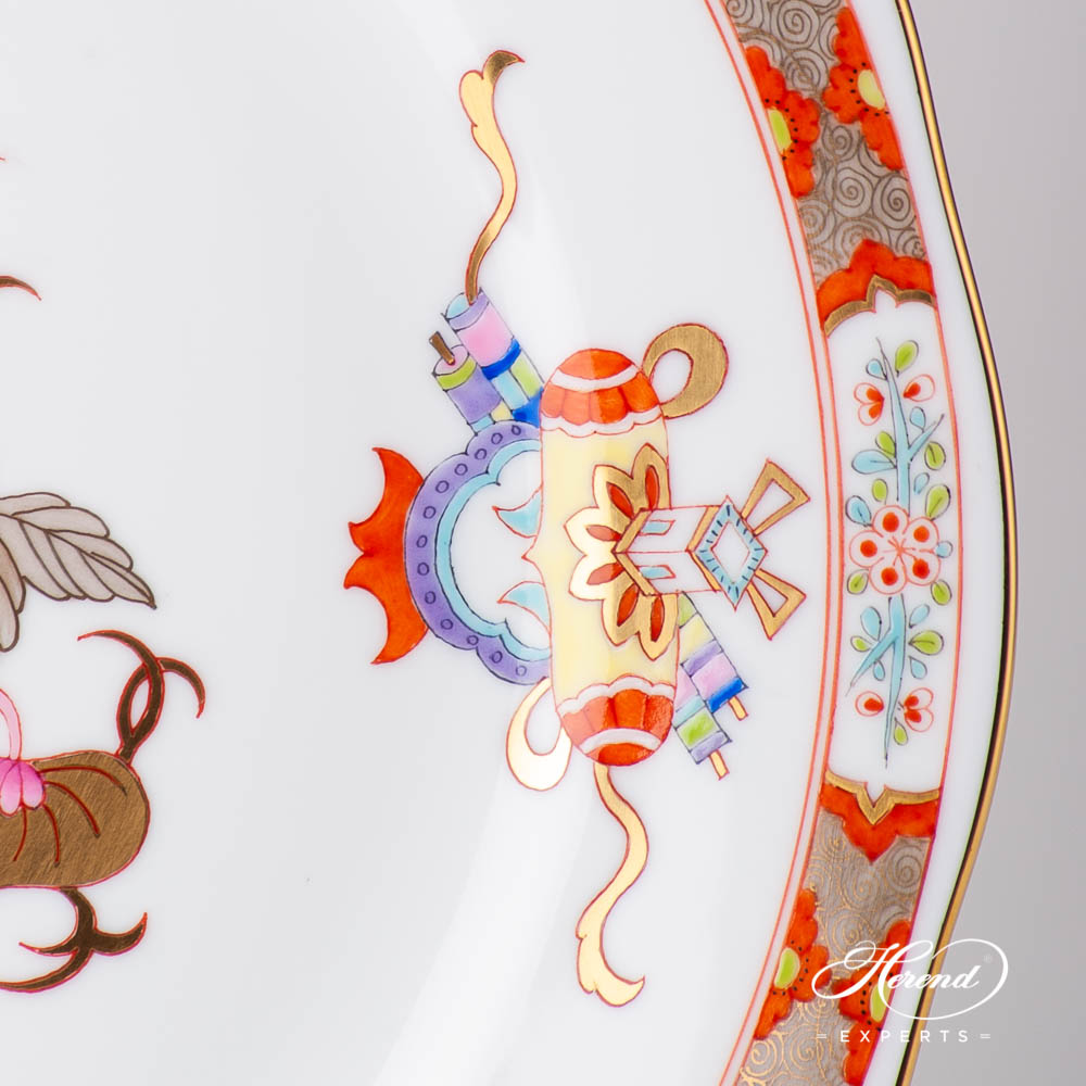 Dinner Plate 20524-0-00 SH Shanghai design. Herend fine china tableware. Hand painted. Oriental style
