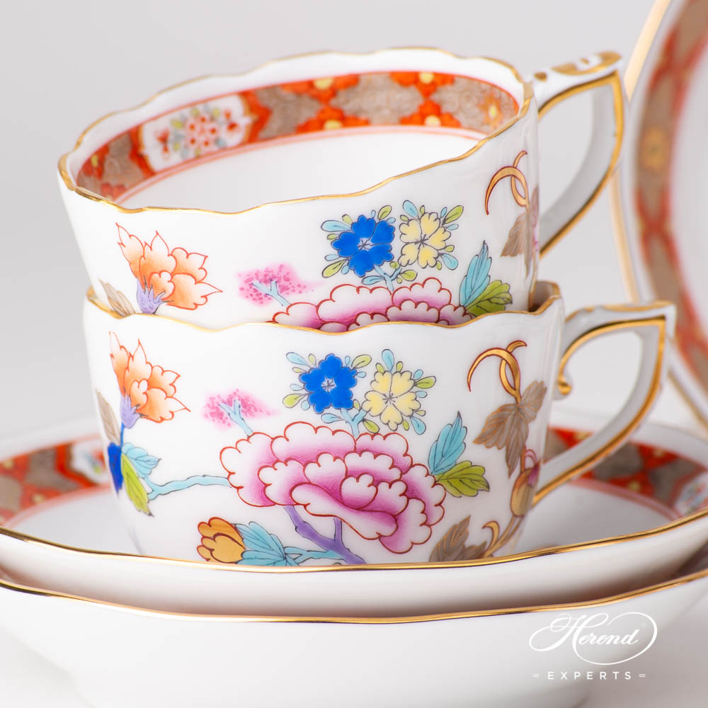 Coffee / EspressoCup and Saucer20711-0-00SH Shanghai design. Herend fine china tableware. Hand painted. Oriental style