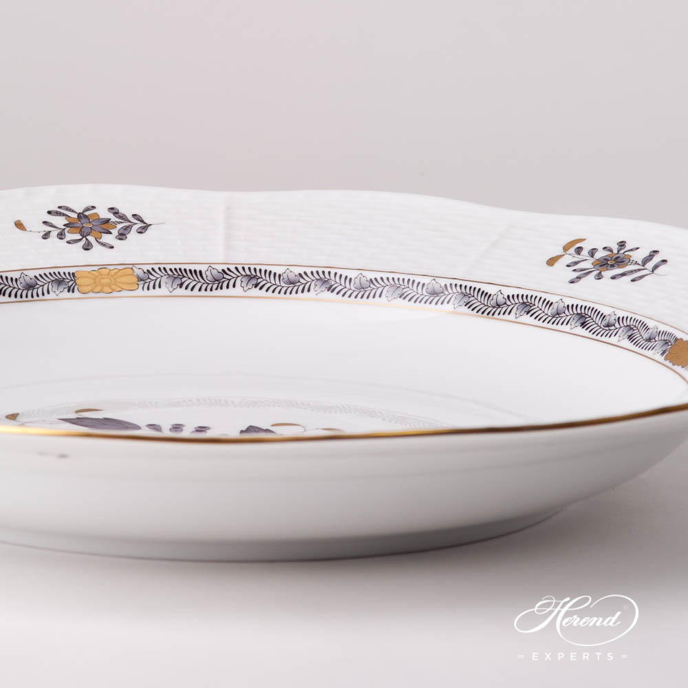 Soup Plate 503-0-00 ANG Chinese Bouquet / Apponyi Black design. Herend fine china