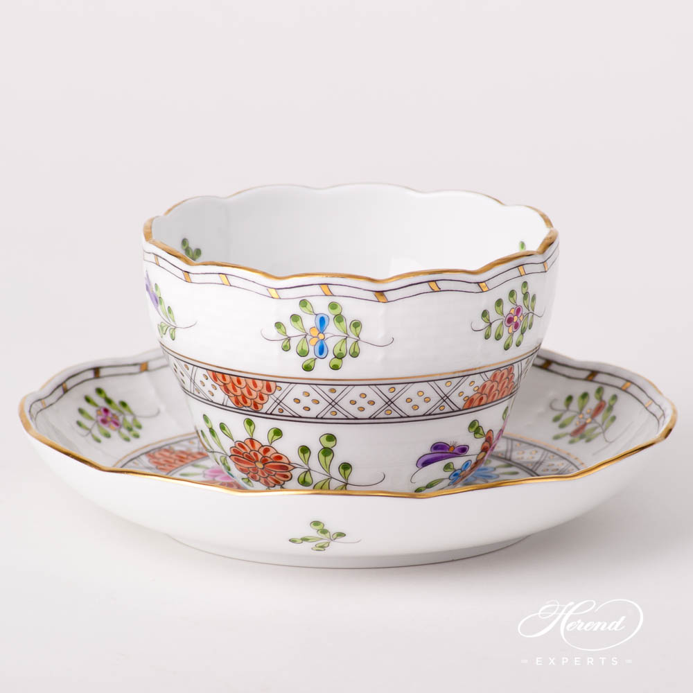 Tea Cup / Coffee Cup 730-0-00 WMC Waldstein Multicolor design. Herend fine china hand painted