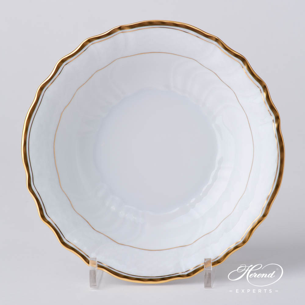 Bowl 1330-0-00 HD Hadik design. Herend fine china hand painted. Rich Golden Edge. Classical Herend design