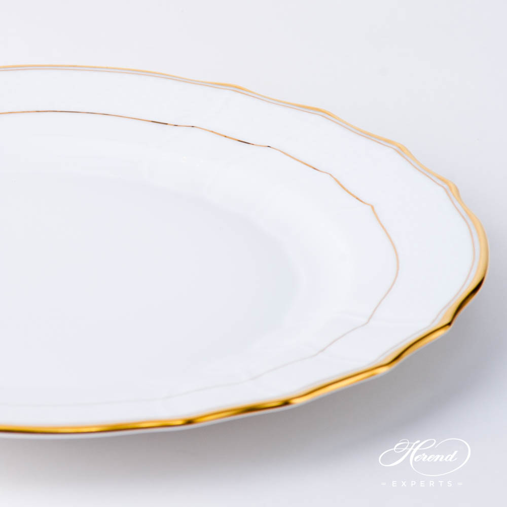 Dinner Plate 1524-0-00 HD Hadik design. Herend fine china hand painted. Rich Golden Edge. Classical Herend design