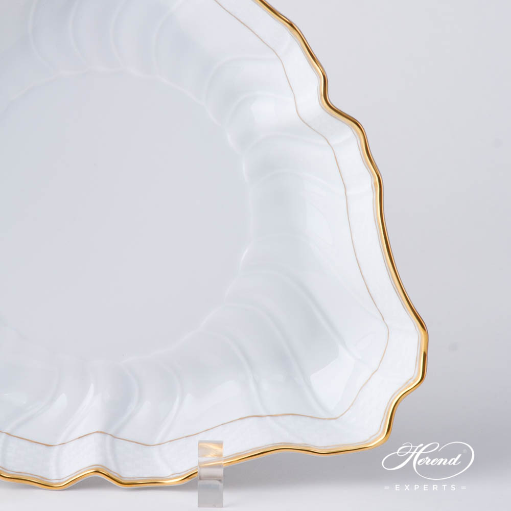 Salad Dish 1191-0-00 HD Hadik design. Herend fine china hand painted. Rich Golden Edge. Classical Herend design