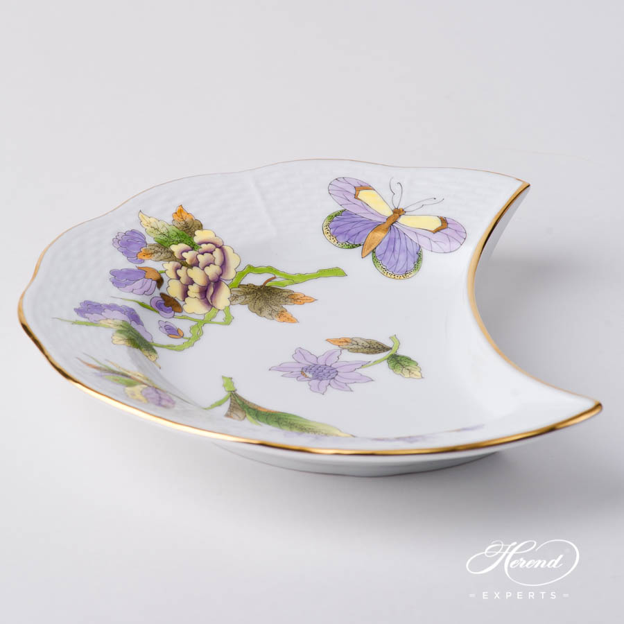 Crescent 530-0-00 EVICT1 Royal Garden Green Butterfly w. Flowerdesign. Herend fine china hand painted