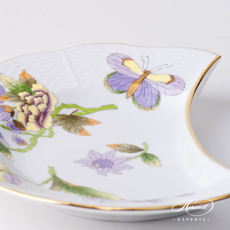 Crescent 530-0-00 EVICT1 Royal Garden Green Butterfly w. Flower design. Herend fine china hand painted
