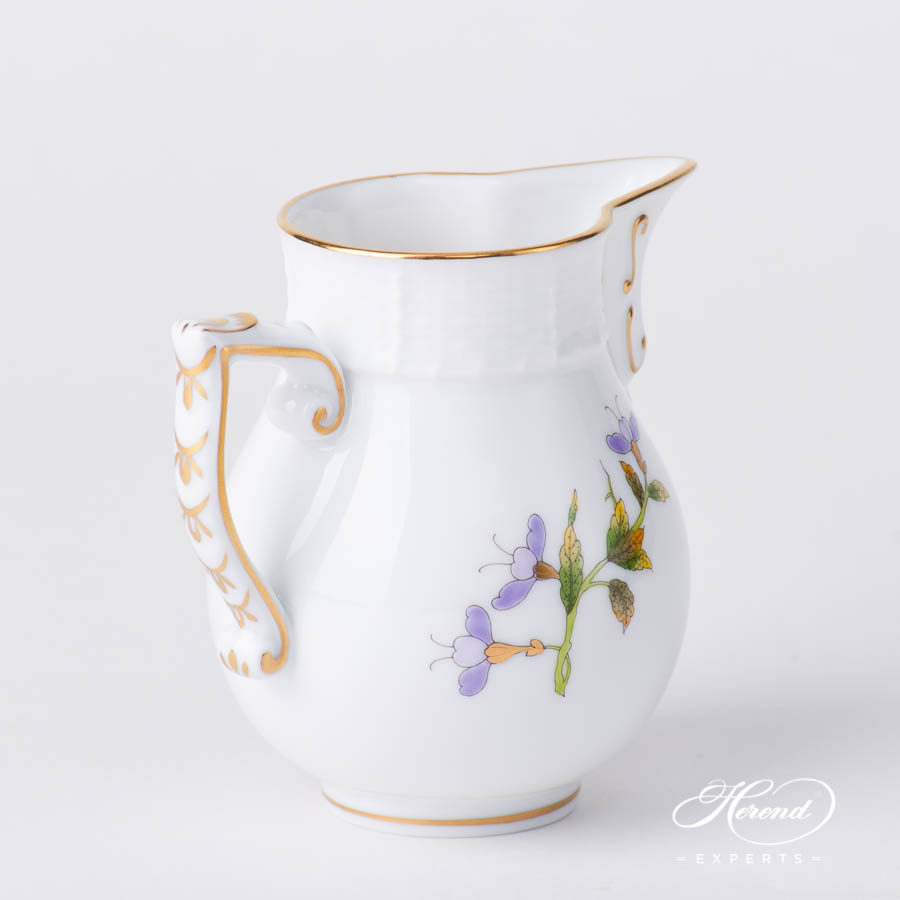 Milk Jug / Creamer 657-0-00 EVICTF1 Royal Garden Green Flower pattern. Herend fine china hand painted. Modern style